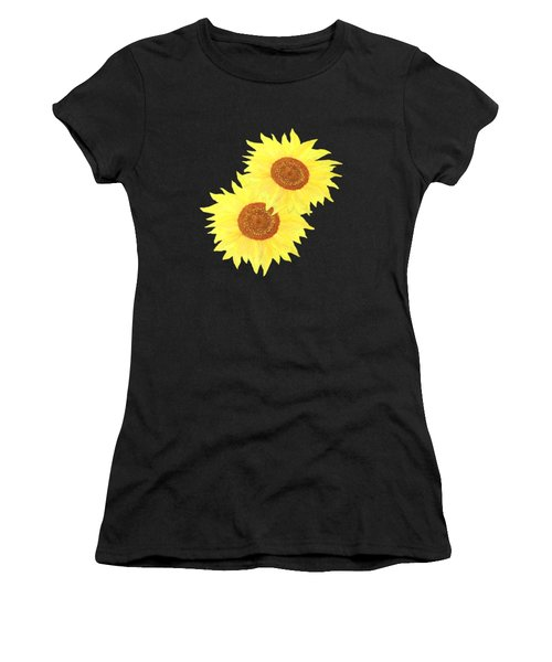 Sunflower Heart Women's T-Shirt (Athletic Fit)