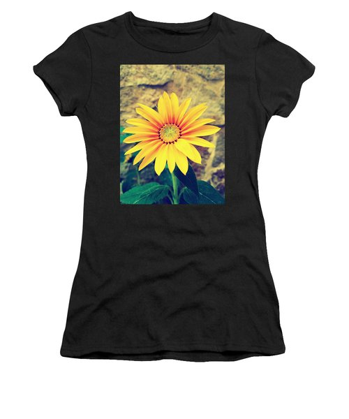 Women's T-Shirt (Athletic Fit) featuring the photograph Sunflower by Lucia Sirna