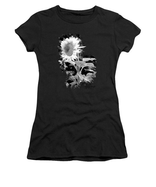 Women's T-Shirt featuring the photograph Sunflower Peace Canvas Print,photographic Print,art Print,framed Print,greeting Card,iphone Case, by David Millenheft