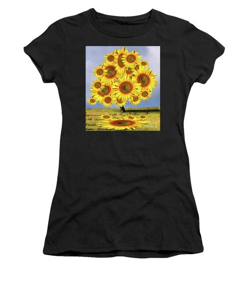 Sunflower Tree Women's T-Shirt (Athletic Fit)