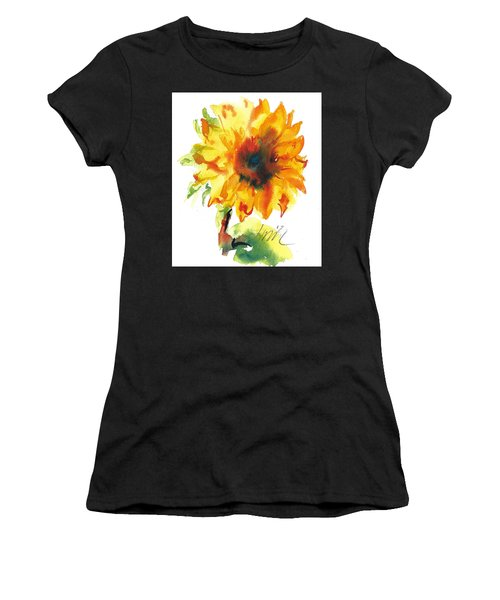 Sunflower With Blues Women's T-Shirt (Athletic Fit)