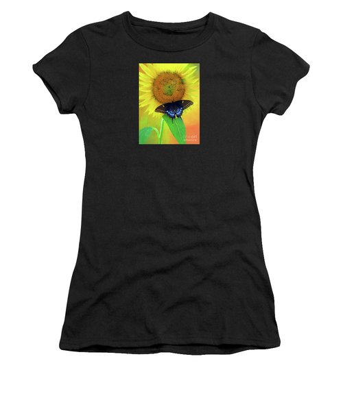 Sunflower With Company Women's T-Shirt (Athletic Fit)