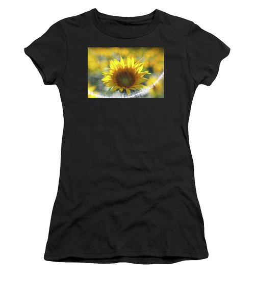 Sunflower With Lens Flare Women's T-Shirt