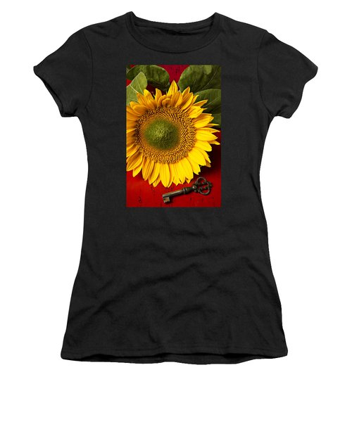 Sunflower With Old Key Women's T-Shirt