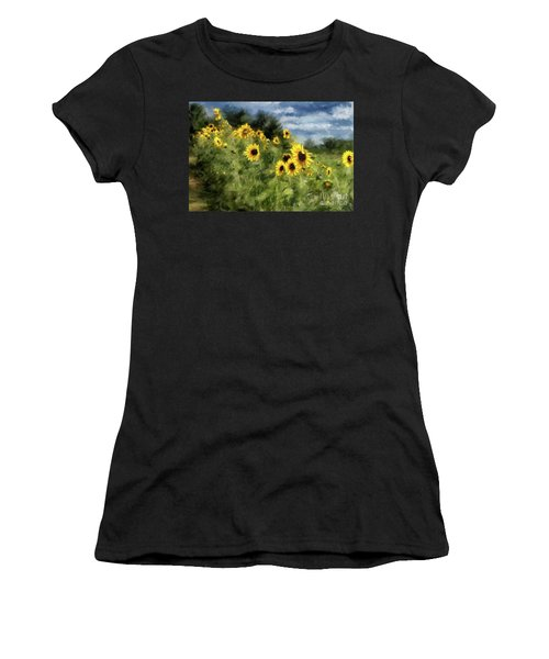Sunflowers Bowing And Waving Women's T-Shirt