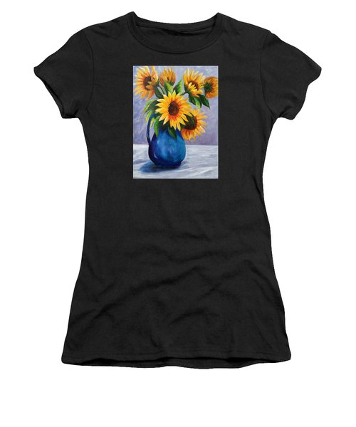 Sunflowers In Bloom Women's T-Shirt (Athletic Fit)