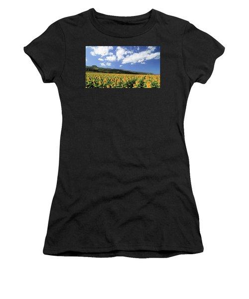 Sunflowers In Waialua Women's T-Shirt