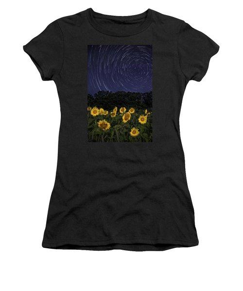 Sunflowers Under The Night Sky Women's T-Shirt