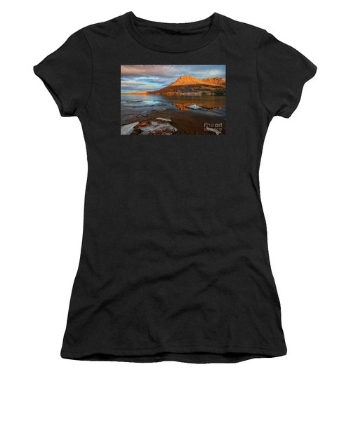 Sunlight On The Flatirons Reservoir Women's T-Shirt (Athletic Fit)