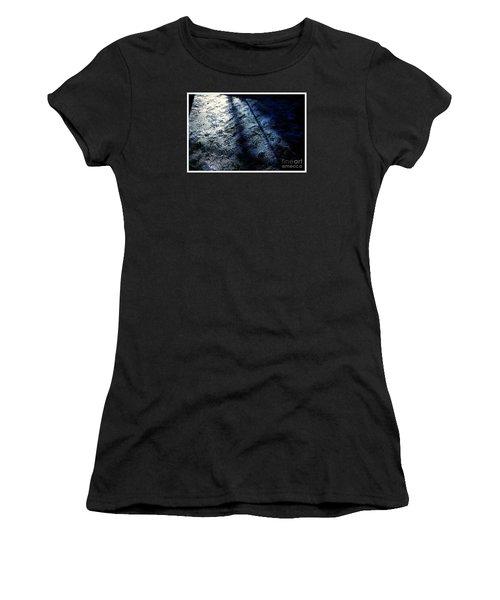 Sunlight Shadows On Ice - Abstract Women's T-Shirt