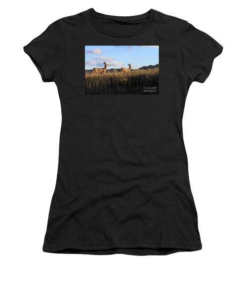 Sunlit Deer  Women's T-Shirt (Athletic Fit)
