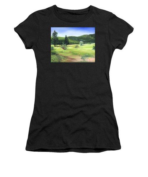 Sunlit Mountain Meadow Women's T-Shirt