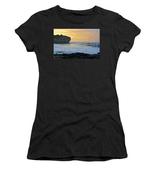 Sunlit Waves - Kauai Dawn Women's T-Shirt (Athletic Fit)