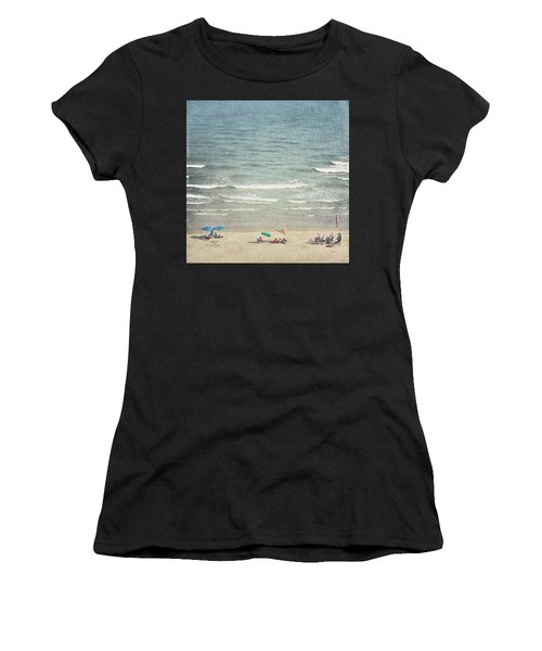 Sunny Day At North Myrtle Beach Women's T-Shirt (Athletic Fit)