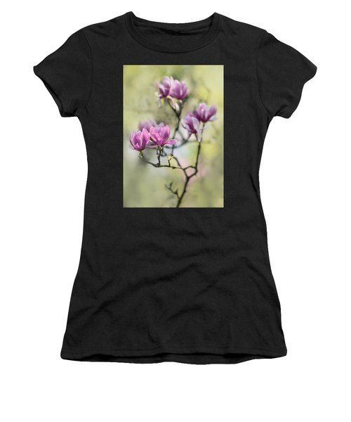 Sunny Impression With Pink Magnolias Women's T-Shirt