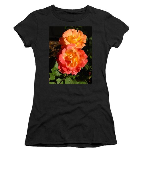 Sunny Roses Women's T-Shirt (Athletic Fit)