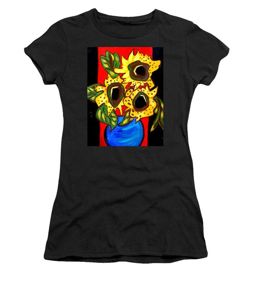 Sunny Sunflowers 1 Women's T-Shirt (Athletic Fit)
