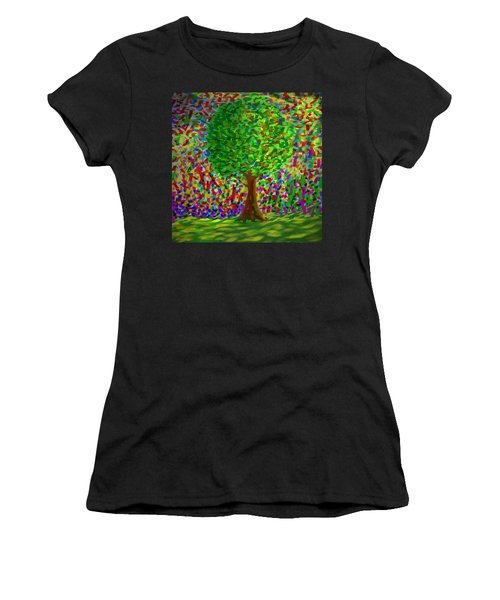 Sunny Tree Women's T-Shirt (Athletic Fit)