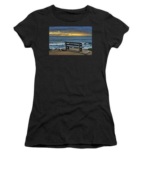 Sunrays On The Horizon Women's T-Shirt (Athletic Fit)