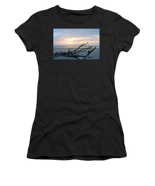 Women's T-Shirt featuring the photograph Sunrise @ Pea Island by Barbara Ann Bell