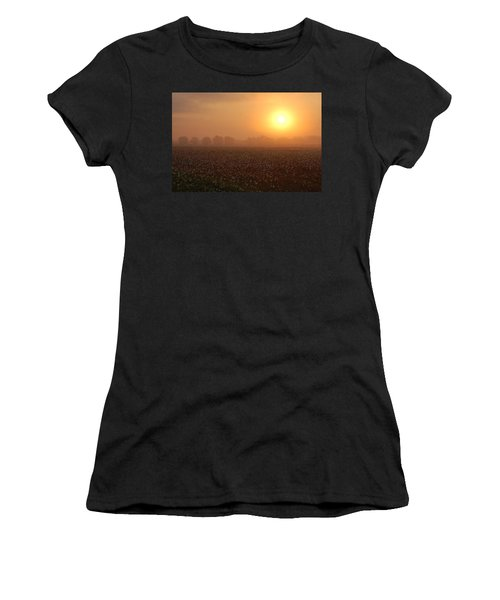 Sunrise And The Cotton Field Women's T-Shirt
