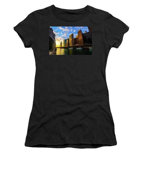 Sunrise At Navy Pier Women's T-Shirt