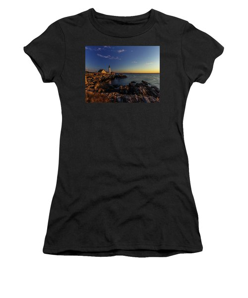 Sunrise At Portland Headlight Women's T-Shirt