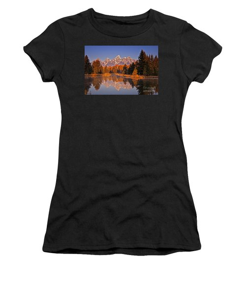 Sunrise At Schwabacher Landing  Women's T-Shirt (Athletic Fit)