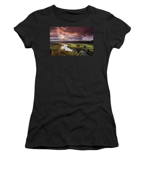 Sunrise At The Course Women's T-Shirt (Athletic Fit)