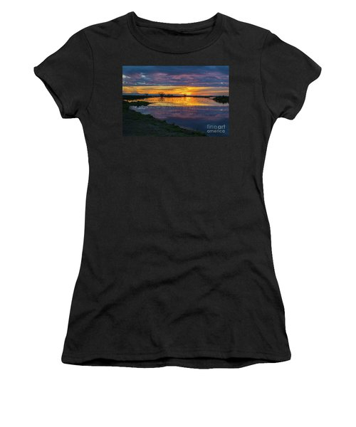 Sunrise At The Merced National Wildlife Refuge Women's T-Shirt (Athletic Fit)