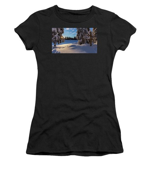 sunrise at the Oderteich, Harz Women's T-Shirt (Athletic Fit)