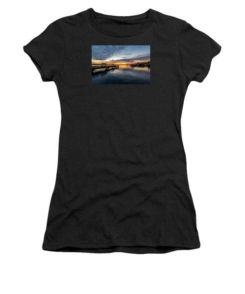Sunrise Less Davice Pier Women's T-Shirt (Athletic Fit)