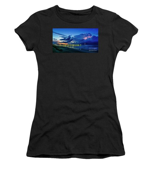 Sunrise Lightning Women's T-Shirt (Athletic Fit)