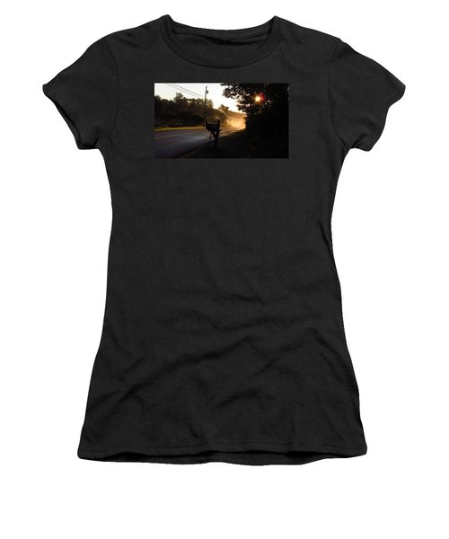 Sunrise On A Country Road Women's T-Shirt (Athletic Fit)