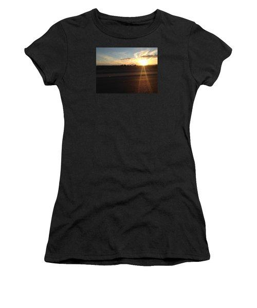 Sunrise On Asphalt Women's T-Shirt (Athletic Fit)