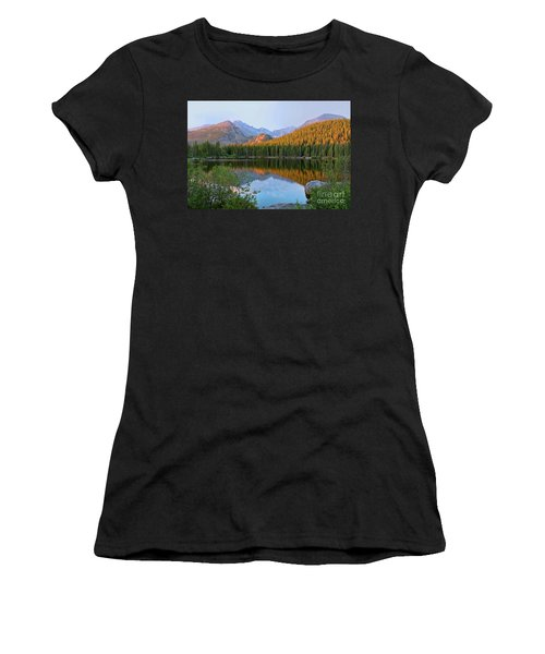 Sunrise On Bear Lake Rocky Mtns Women's T-Shirt (Athletic Fit)
