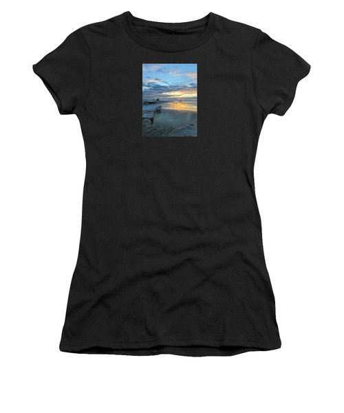 Women's T-Shirt (Athletic Fit) featuring the photograph Sunrise On Ice by Greta Larson Photography