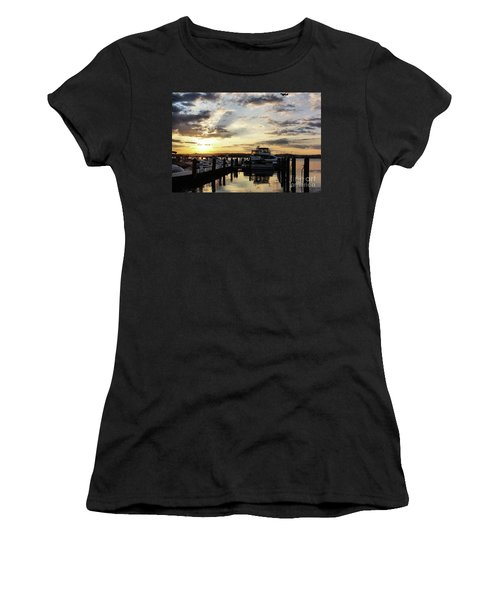 Sunrise On The Alexandria Waterfront Women's T-Shirt (Athletic Fit)