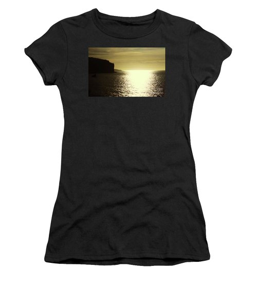 Women's T-Shirt (Junior Cut) featuring the photograph Sunrise On The Almalfi Coast by Polly Peacock