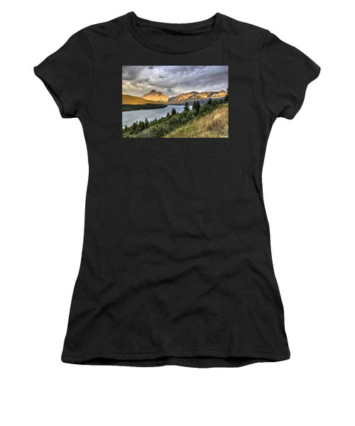 Women's T-Shirt (Junior Cut) featuring the photograph Sunrise On The Bitterroot River by Alan Toepfer