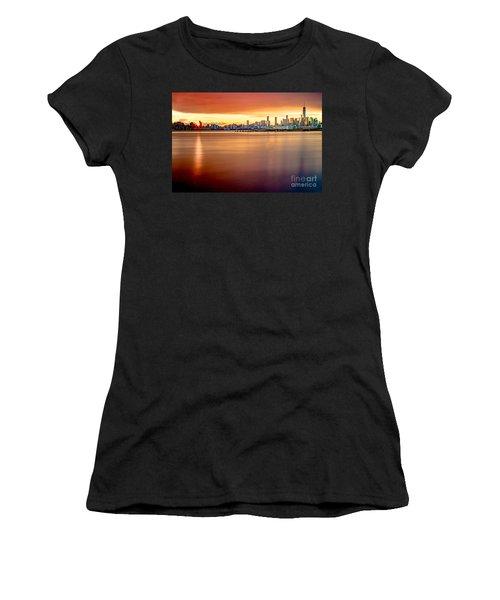 Sunrise On The Weehawken Waterfront Women's T-Shirt