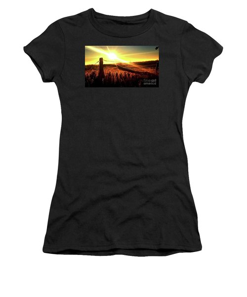 Sunrise On The Wire Women's T-Shirt (Athletic Fit)