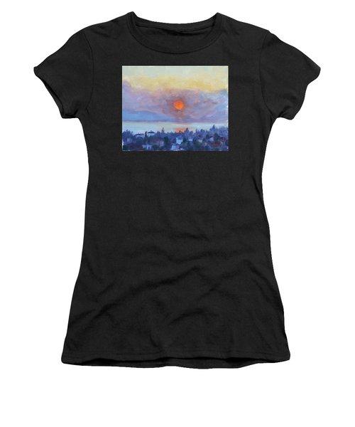 Sunrise Over Dilesi Athens Women's T-Shirt
