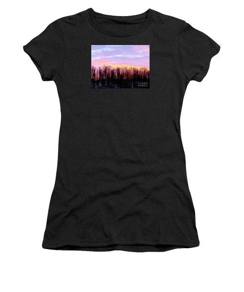 Sunrise Over Lake Women's T-Shirt (Junior Cut) by Craig Walters