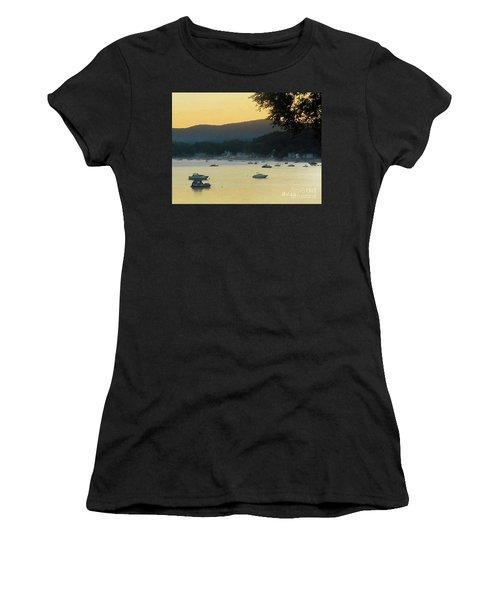 Sunrise Over Malletts Bay Panorama - Nine V2 Detail Women's T-Shirt (Junior Cut) by Felipe Adan Lerma