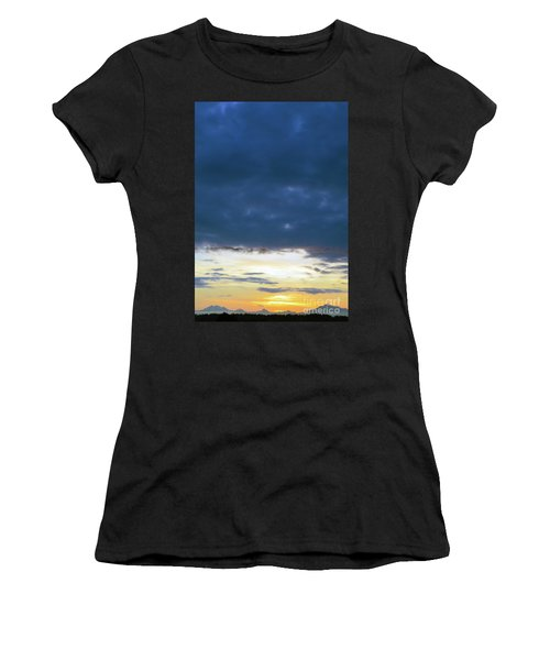 Sunrise Over The Cascades Women's T-Shirt (Athletic Fit)