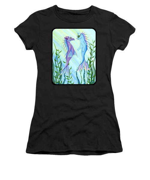 Sunrise Swim - Sea Dragon Mermaid Cat Women's T-Shirt