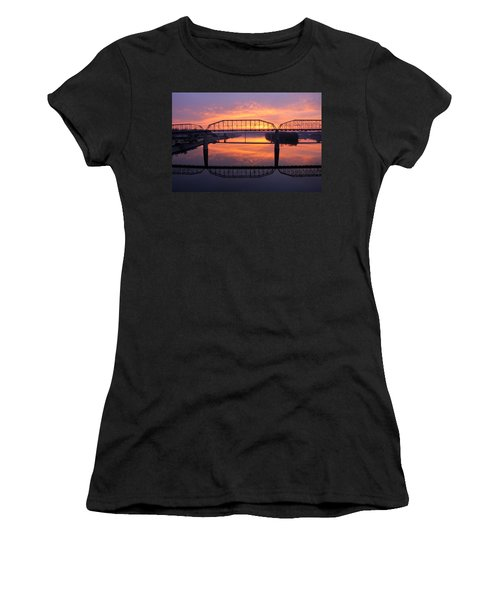 Sunrise Walnut Street Bridge 2 Women's T-Shirt (Athletic Fit)