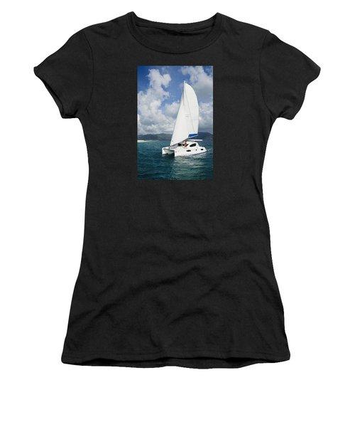 Sunsail Catamaran Women's T-Shirt (Athletic Fit)