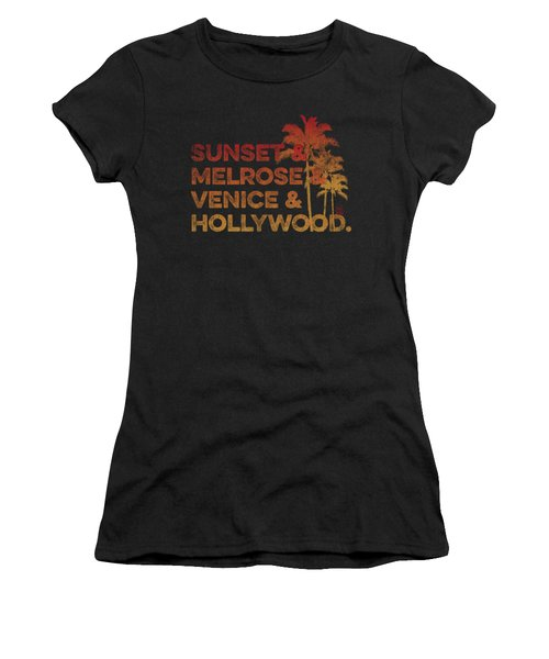 Sunset And Melrose And Venice And Hollywood Women's T-Shirt